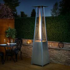 Outdoor Patio Garden Restaurant Pyramid Flame Heater 227cm Tall