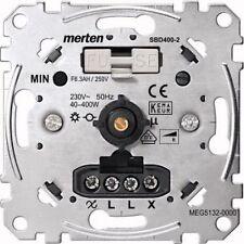 Merten Drehdimmer-Einsatz mit Druck-Wechselschalter, 40-400 W MEG5132-0000