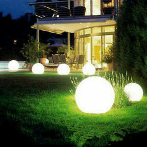 2 PCS Solar LED Ground Light Ball Lamp Waterproof Outdoor Garden Yard Path Decor