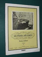 """Partitions violon et violon acc. piano  """"Heitere Stunden - heures joyeuses """""""