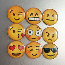 Lovely Expression Glass Emoji Fridge Magnet Decor Whiteboard Note Message Gifts