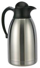2 Liter Isolierkanne Thermoskanne Kaffeekanne Edelstahl doppelwandig