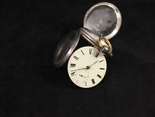 """Antique English Pocket Watch """"James Houghton""""  Key Wind, Sterling Silver Case"""