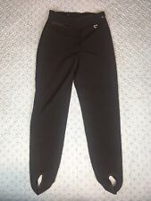Obermeyer Ski Snow Pants W/ Stirrups Wool Blend Stretch Women's Sz 8R 25X24 VGUC