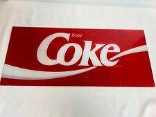 "Vintage Coca Cola COKE Plastic Sign For Coke Machine Acrylic Advertising 22"""