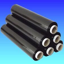 6 x Strechfolie Stretchfolie Wickelfolie Packfolie schwarz 20µ 2,8 Kg je Rolle