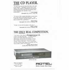 1991 Rotel RCD-855 CD Player Stereo Hi-Fi Vtg Print Ad