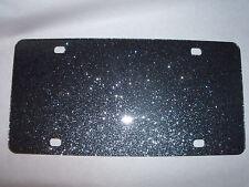 "Blank Black Sparkle Acrylic License Plates 12"" x 6"" (wholesale)"