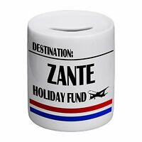 Destination Zante Holiday Fund Novelty Ceramic Money Box