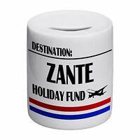 Destination Zante Holiday Fund Novelty Ceramic Money Box