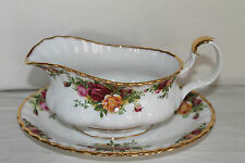 Royal Albert Old Country Rose Salsiera e stand