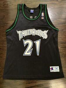 Minnesota Timberwolves Kevin Garnett #21 NBA Basketball Champion Jersey Mens 44