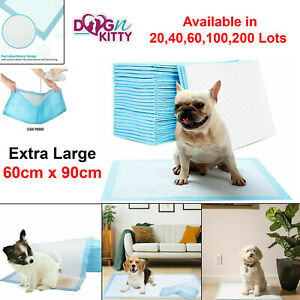 EXTRA LARGE HEAVY DUTY DOG PUPPY TRAINING WEE WEE PAD FLOOR TOILET MATS 60x90cm