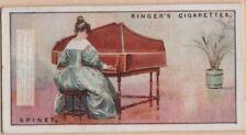 Spinet Wing Shaped Single String Set Harpsichord Music Instrument 1920sAd Card