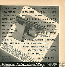 1954 small Print Ad of Firearms International Corp Astra Cub Model 2000 Pistol