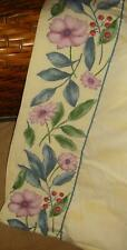 Croscill Gazebo Botanica King Flat Sheet Rare Yellow Floral Euc 100 x 104 Cotton