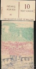 BHUTAN 10 Ch.10 DIFFERENT PICTURE POSTAL STATIONERY CARD RARE COMPLETE BOOKLET