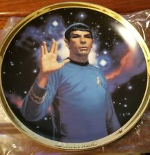 1991 Hamilton Collection Dr Spock 25th Anniversary Collector Plate Star Trek Tos