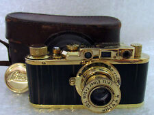 Leica-II(D) Luftwaffe WWII Vintage Russian 35mm RF Photo Gold Camera Excellent