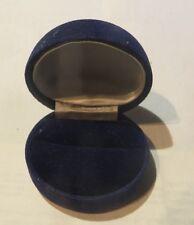Boite à bijoux en velours bleu