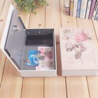 Creative Book Shape Key Safe Box Secure Lock Combination Safety High Security