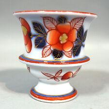 Bayeux Joachim Langlois Coquetier Porcelaine Début 19ème Guirlande De Fleurs 1/2