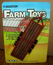 *ERTL Farm Toys 1/64 HESSTON Dealer Implement Hauling Trailer 1986 brown