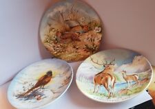 3 x CROWN STAFFORDSHIRE COLLECTORS PLATES 1977 1979 1980 CHRISTMAS PLATES