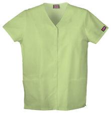 NWT XSmall Celadon Cherokee Scrubs Workwear Snap Front Top 4770 CELW