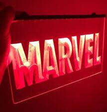New ListingMarvel Logo Light Neon Sign for Game Room,Office, Man Cave, Arcade Room, Movie
