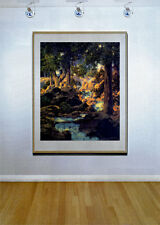 Good Fishing 22x30 Maxfield Parrish Art Deco Print Hand Numbered Edition