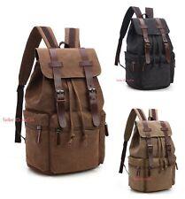 Women Men Canvas Backpack Laptop School Bag Rucksack Travel Satchel Shoulder Bag