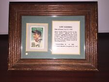 Limited Edition Framed 25 Cent Lou Gehrig Stamp. (28 Of 2500)