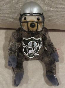 Ty Beanie Custom Handpainted with Las Vegas Raiders Logo plus Football Helmet