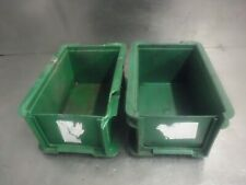 Heavy Duty Plastic Stacking Industrial Storage Containers Boxes Crates 30x20x14