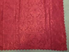 Table Linens Tablecloth Shiny Red Maroon Embossed Scalloped Edge 5' x 7'