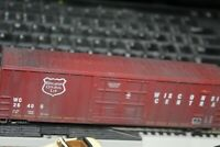 WISCONSIN CENTRAL R.R. 50 FT BOX CAR ATHEARN 1/87 HO RTR. WEATHERED