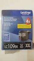 GENUINE BROTHER BLACK INK CARTRIDGE LC109BK XXL - EXP 8/23, damaged box