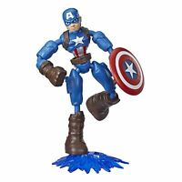 AVENGERS BEND AND FLEX CAPTAIN AMERICA FIGURE KIDS TOY