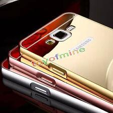 Etui Housse Coque Aluminium Métal Bumper Case+ Miroir Arrière Cover Pour Samsung