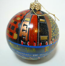 "2006 Radio City Music Ny 3.5"" Christmas Spectacular Glass Ornament Glitter"