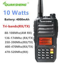 QuanSheng TG-UV2 Plus 10 Watts Tri-band  Walkie Talkie Ham Two way radio HT