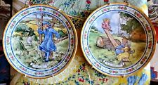 2 Royal Doulton Nursery Rhyme Plates See Saw and Little Boy Blue