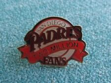 "VINTAGE MLB BASEBALL SAN DIEGO PADRES TWO MILLION FANS 1"" TEAM GIVE AWAY PIN"