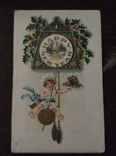 Happy New Year - Child Swinging From Cuckoo Clock