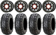 "Xs235 Grenade Black 15"" Wheels 30"" Ultracross Tires Yamaha Viking Wolverine"