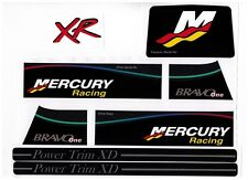 MERCRUISER BAVO ONE RACING BLACK DECAL SET WITH XR/GRAY TRIMS
