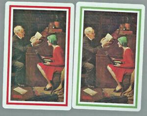 Geniune Swap Vintage Playing Card   Couple x 2