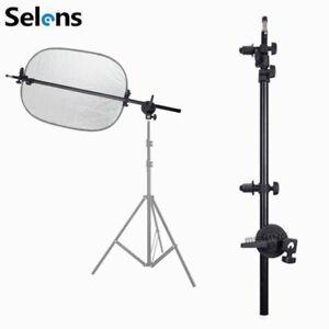 Photography Photo Studio Light Reflector Disc Holder Arm Grip Support 70-185cm