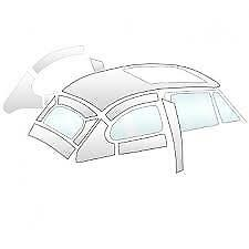 VW Beetle Headliner for Sunroof model Off White Vinyl Perforated 58 -63